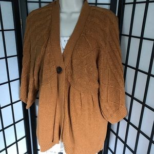 Apt 9. Fall Knitted Burnt Orange Open Cardigan